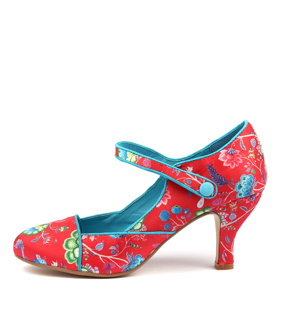 I Love Billy Minkie Red Print Shoes Womens Shoes Heeled Shoes