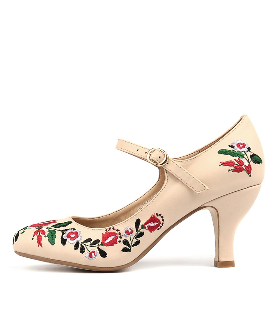 buy I Love Billy Mishka Beige Heeled Shoes shop I Love Billy High Heels online
