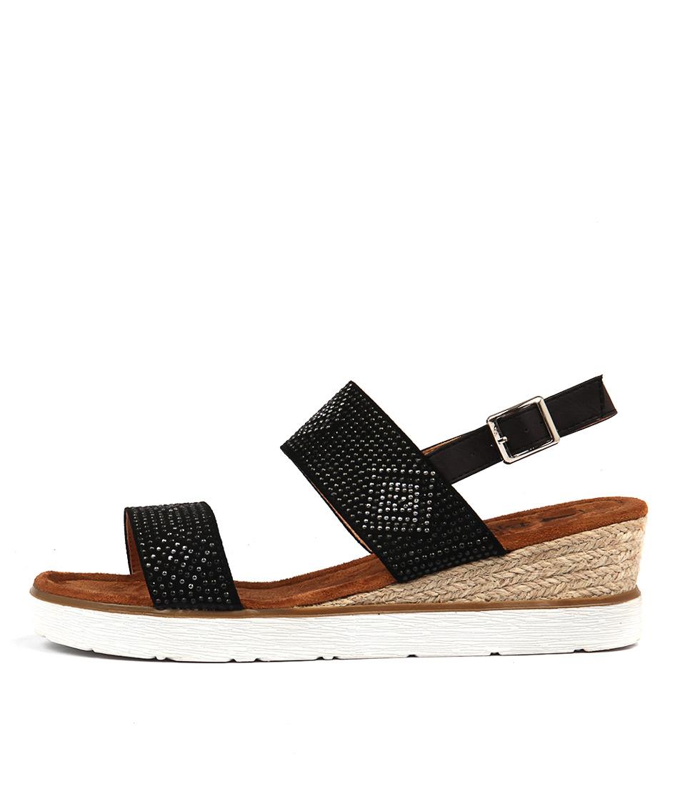 I Love Billy Obstacle Black Heeled Sandals