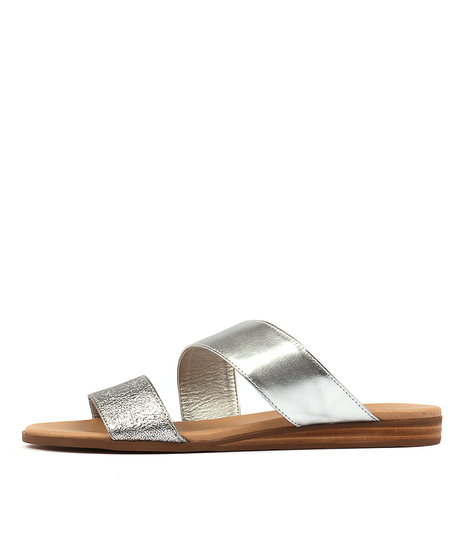 I Love Billy Olivette Silver Casual Flat Sandals