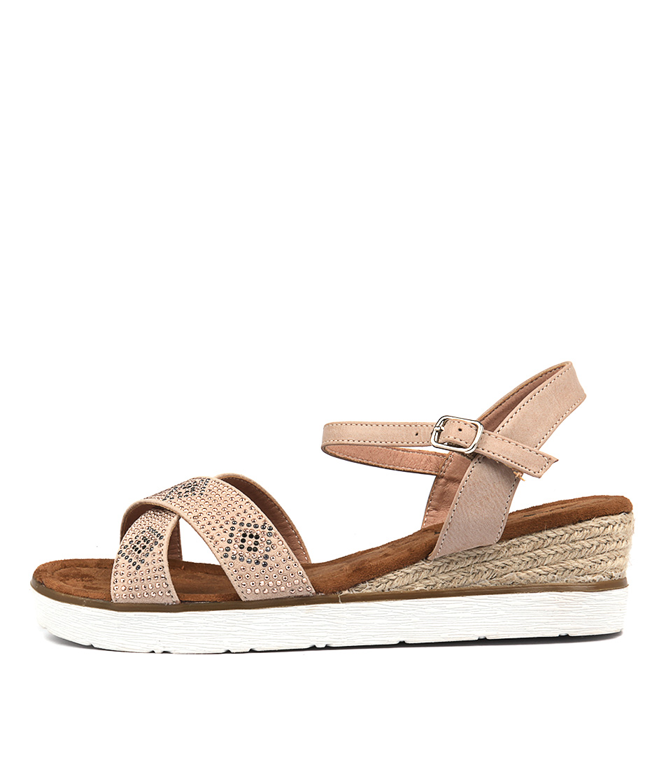 I Love Billy Oran Nude Heeled Sandals
