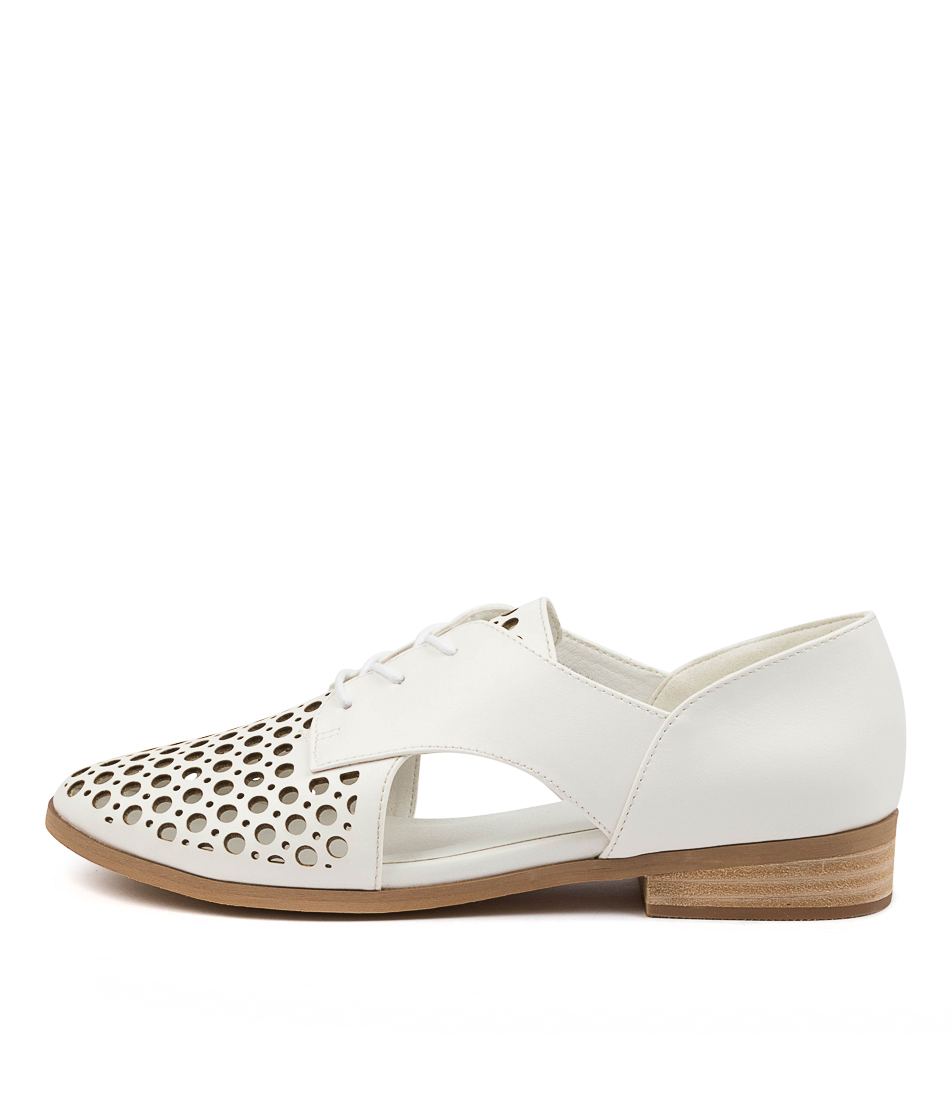 Buy I Love Billy Quietly White Flats online with free shipping