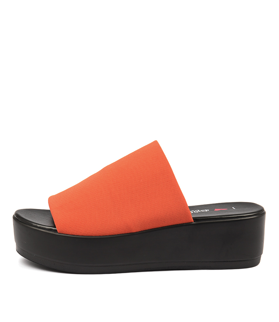 I Love Billy Kiara Orange Heeled Sandals