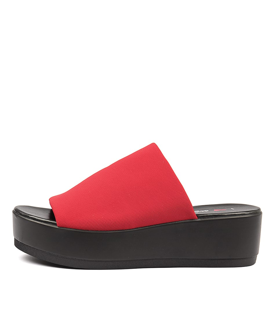 I Love Billy Kiara Red Heeled Sandals