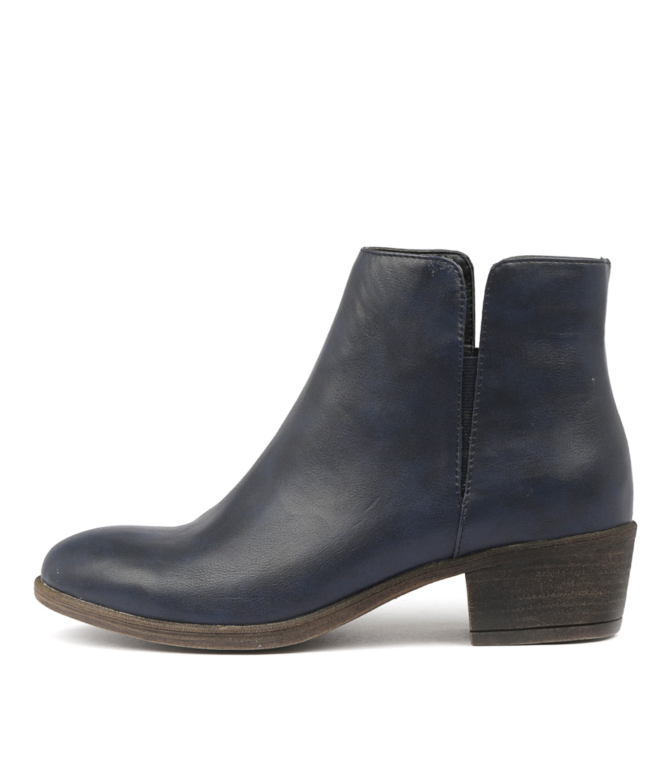 I Love Billy Alibis Navy Ankle Boots