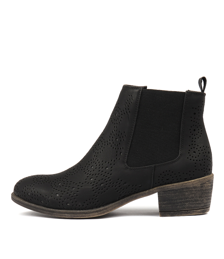 I Love Billy Axton Black Ankle Boots