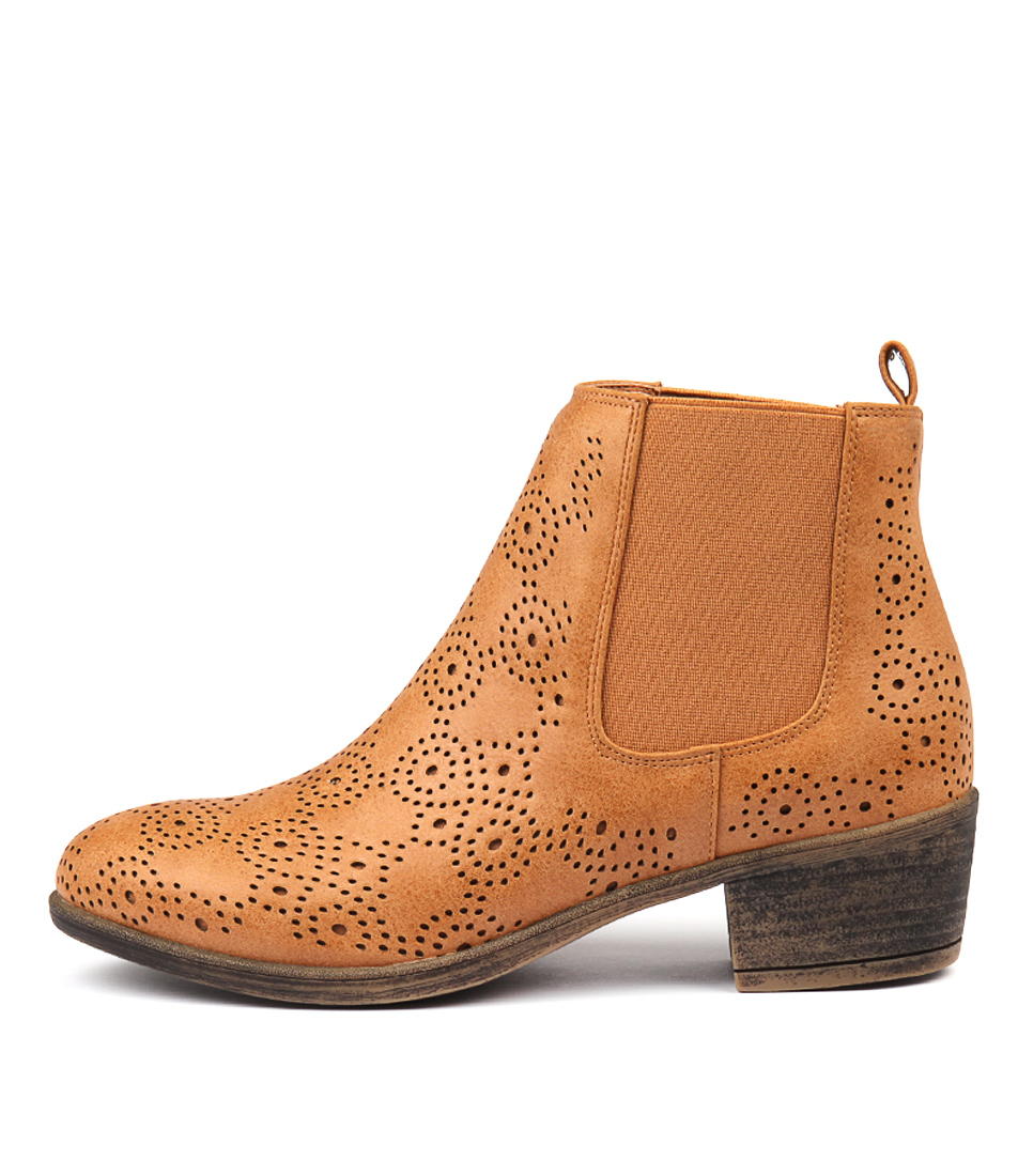 Photo of I Love Billy Axton Tan Ankle Boots womens shoes