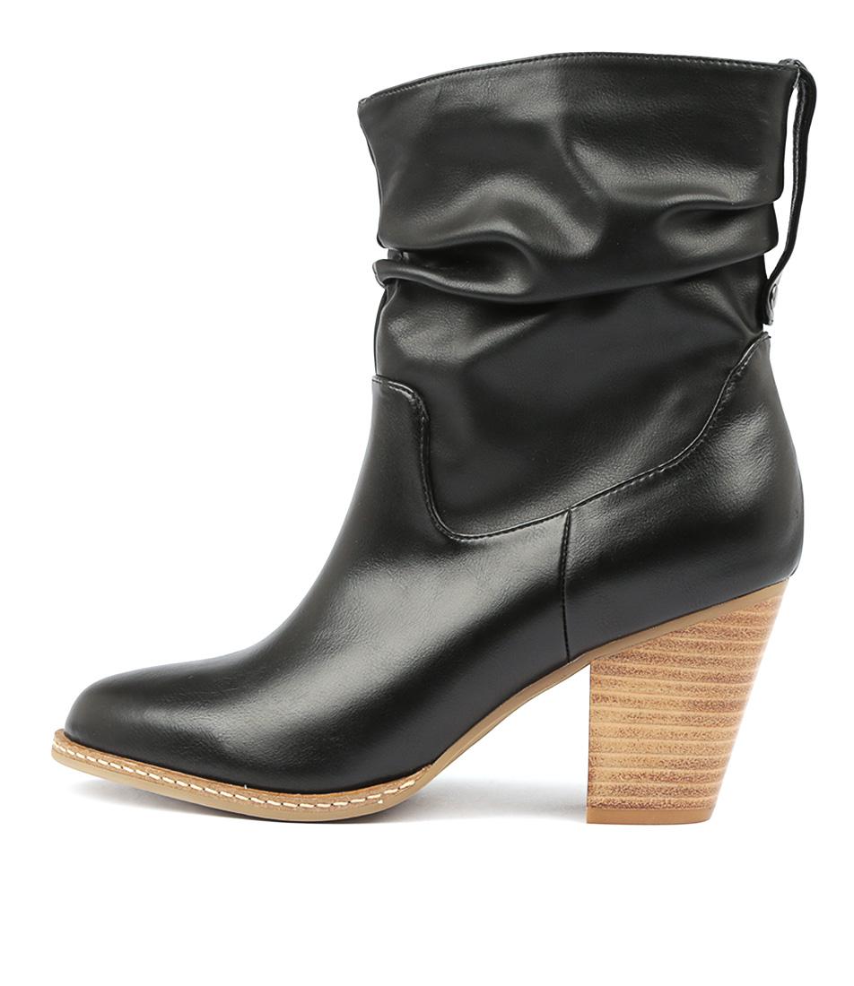 I Love Billy Celia Black Ankle Boots
