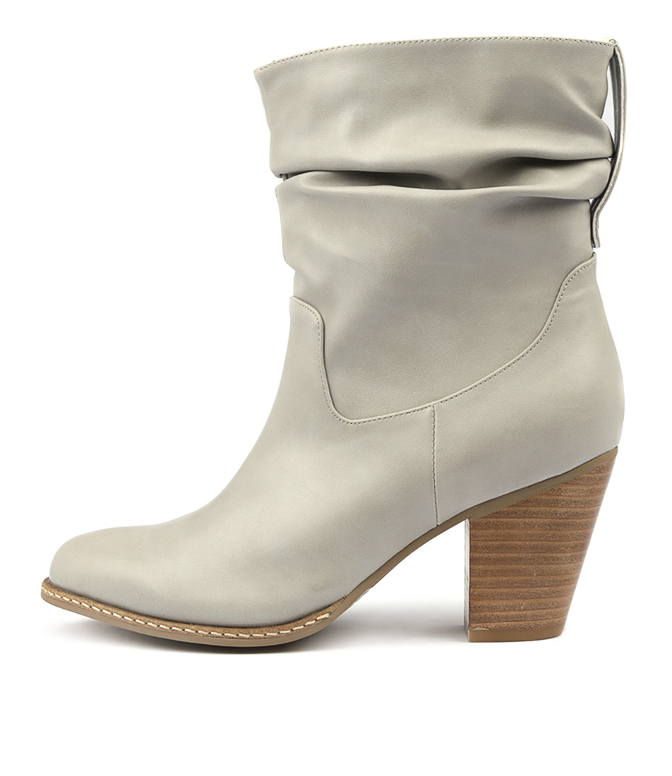 I Love Billy Celia Grey Ankle Boots