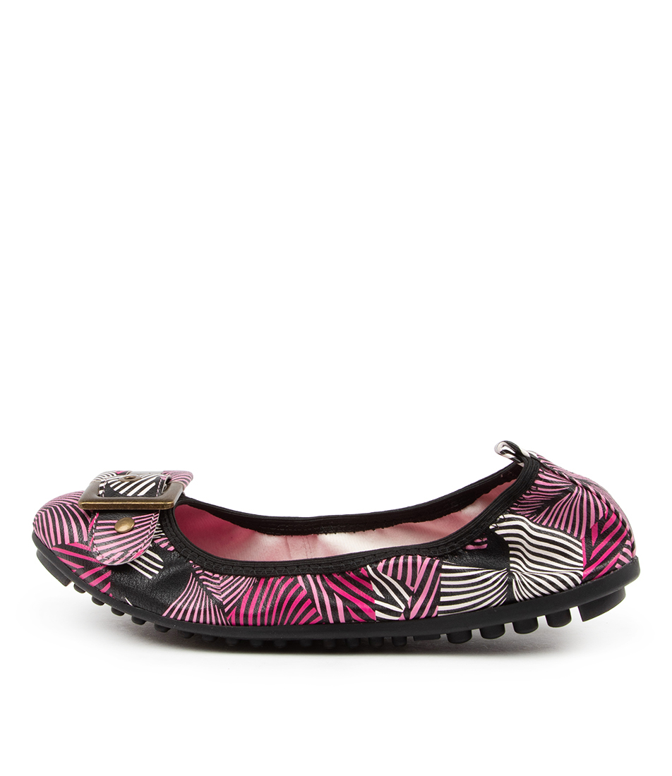 Buy I Love Billy Cory Pink Zebra Flats online with free shipping