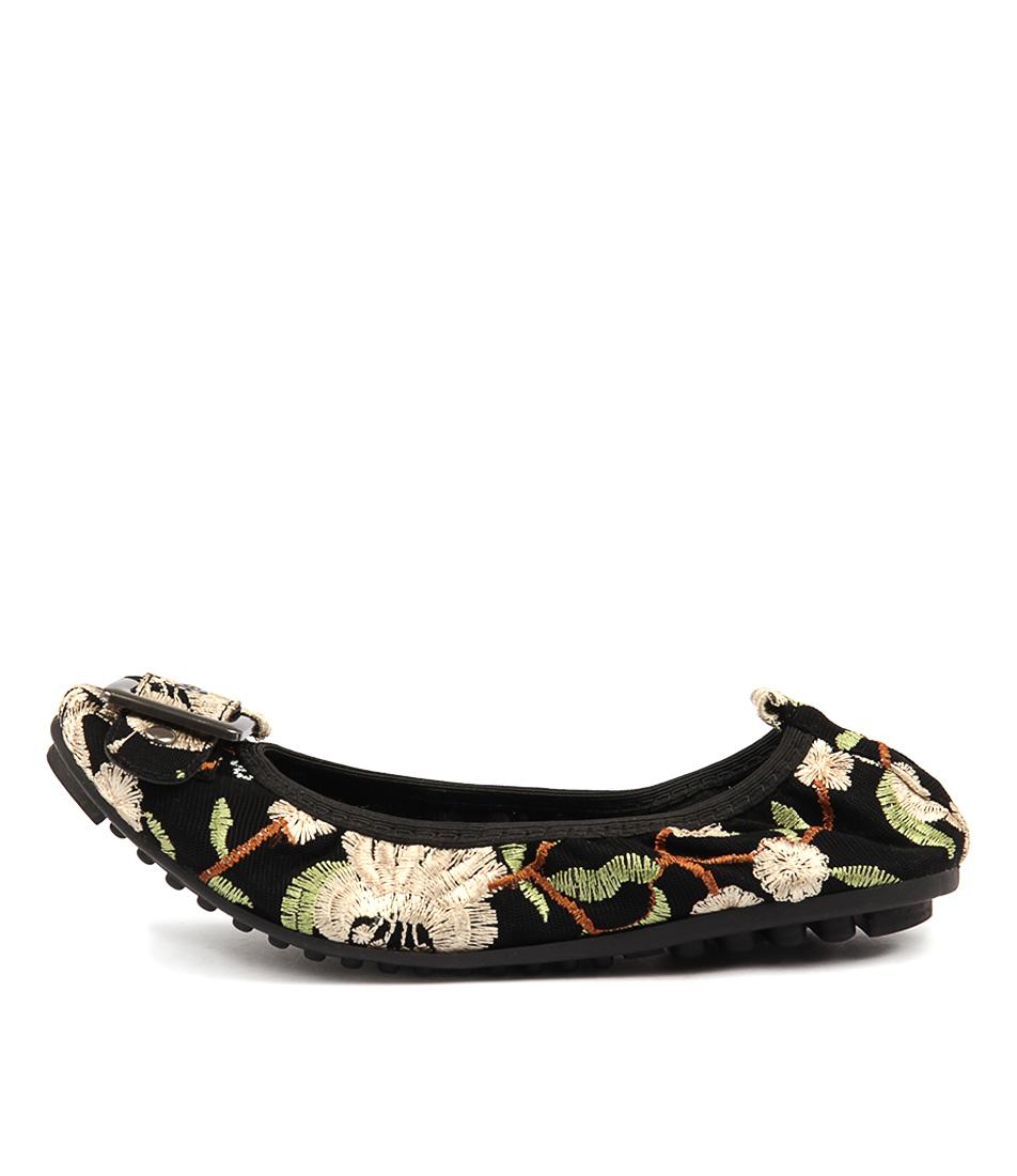 I Love Billy Cory Black & Cream Flo Flat Shoes
