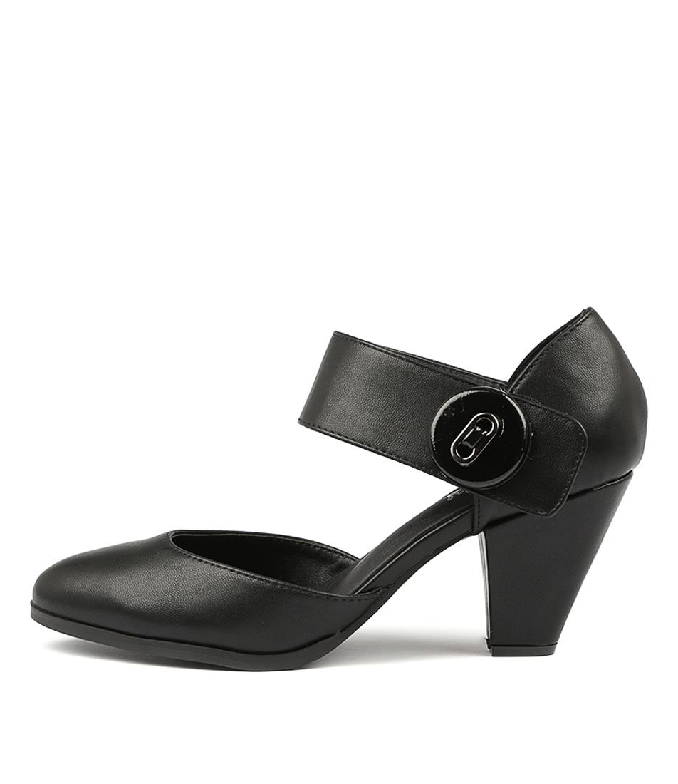 I Love Billy Cyndias Black Black High Heels