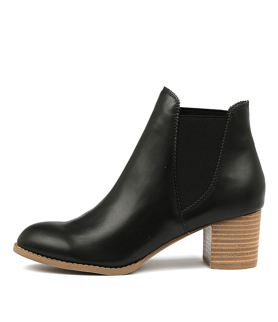 Buy I Love Billy Jalises Black Natural Heel Ankle Boots online with free shipping