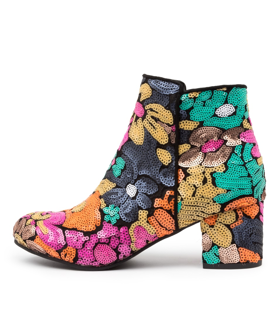 Buy I Love Billy Kanye Black Multi Ankle Boots online with free shipping