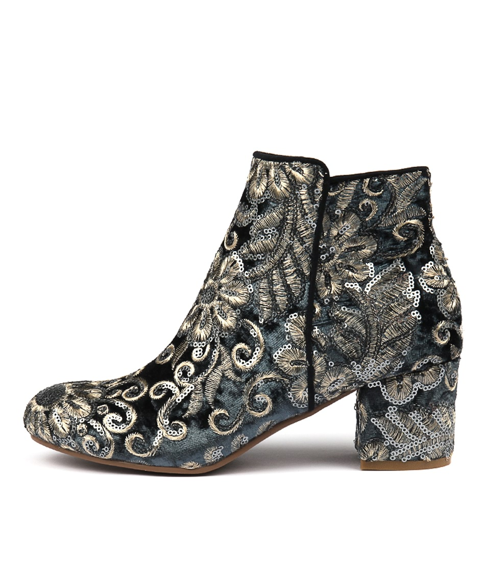 Buy I Love Billy Kanye Steel Sparkle Ankle Boots online with free shipping