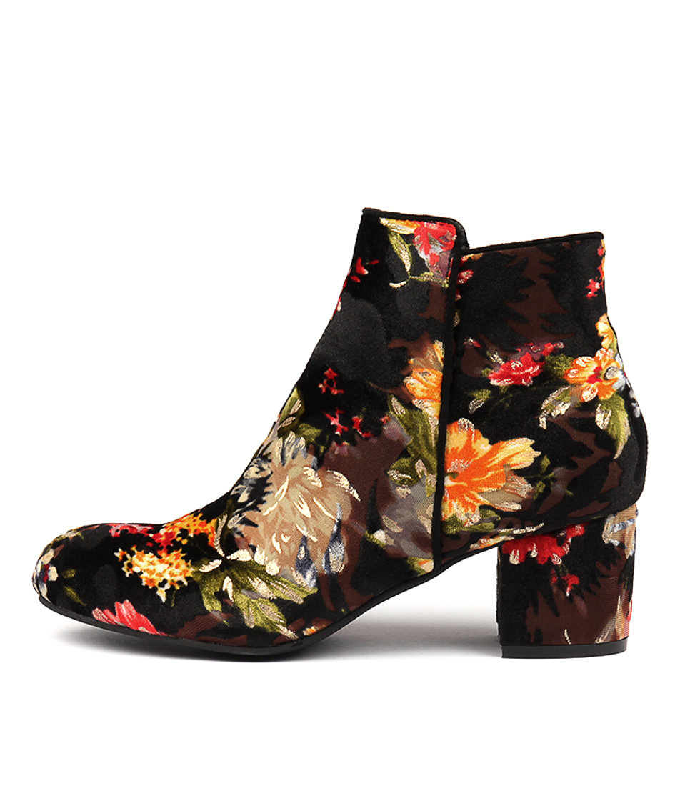 Buy I Love Billy Kanye Red & Green Flora Ankle Boots online with free shipping