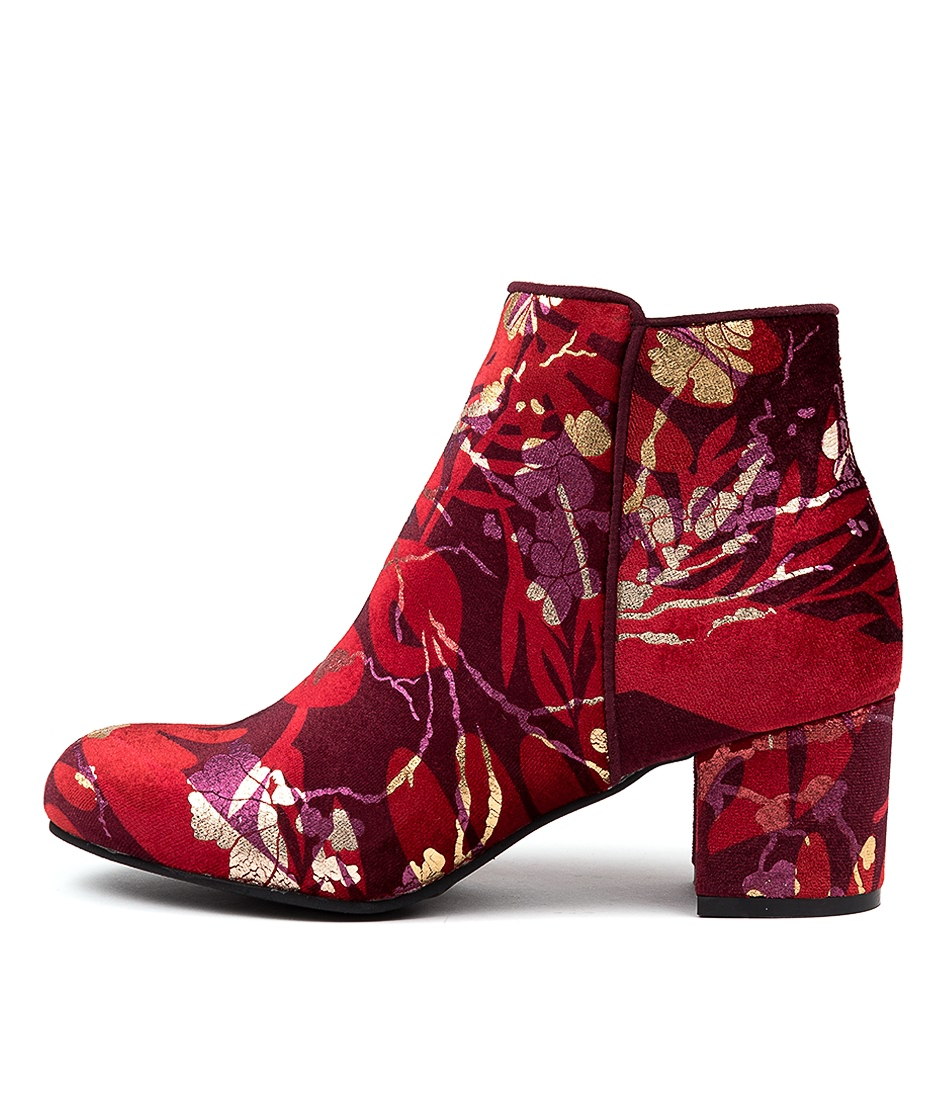 Buy I Love Billy Kanye Plum Blossom Ankle Boots online with free shipping
