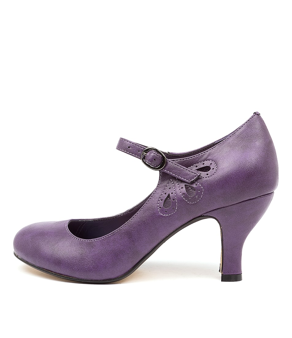 Buy I Love Billy Mendy Purple High Heels online with free shipping