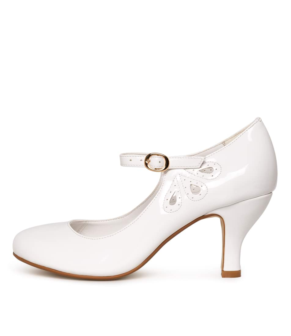 Buy I Love Billy Mendy White High Heels online with free shipping