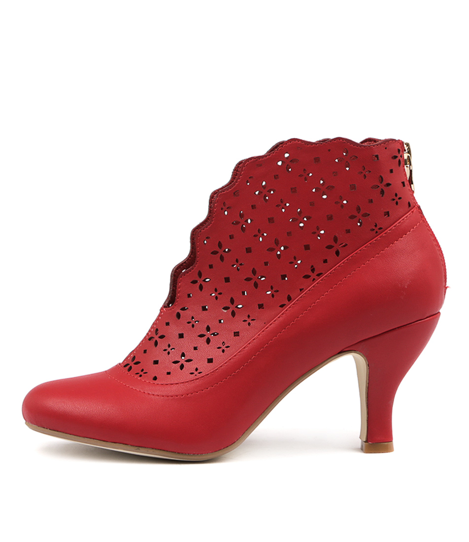 I Love Billy Maude Red Ankle Boots