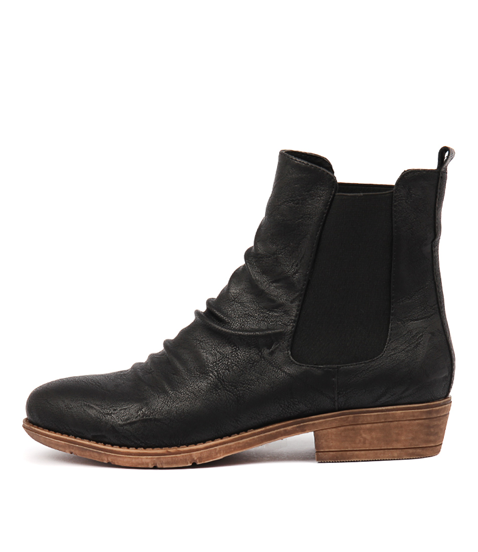 I Love Billy Rufuser Black Ankle Boots