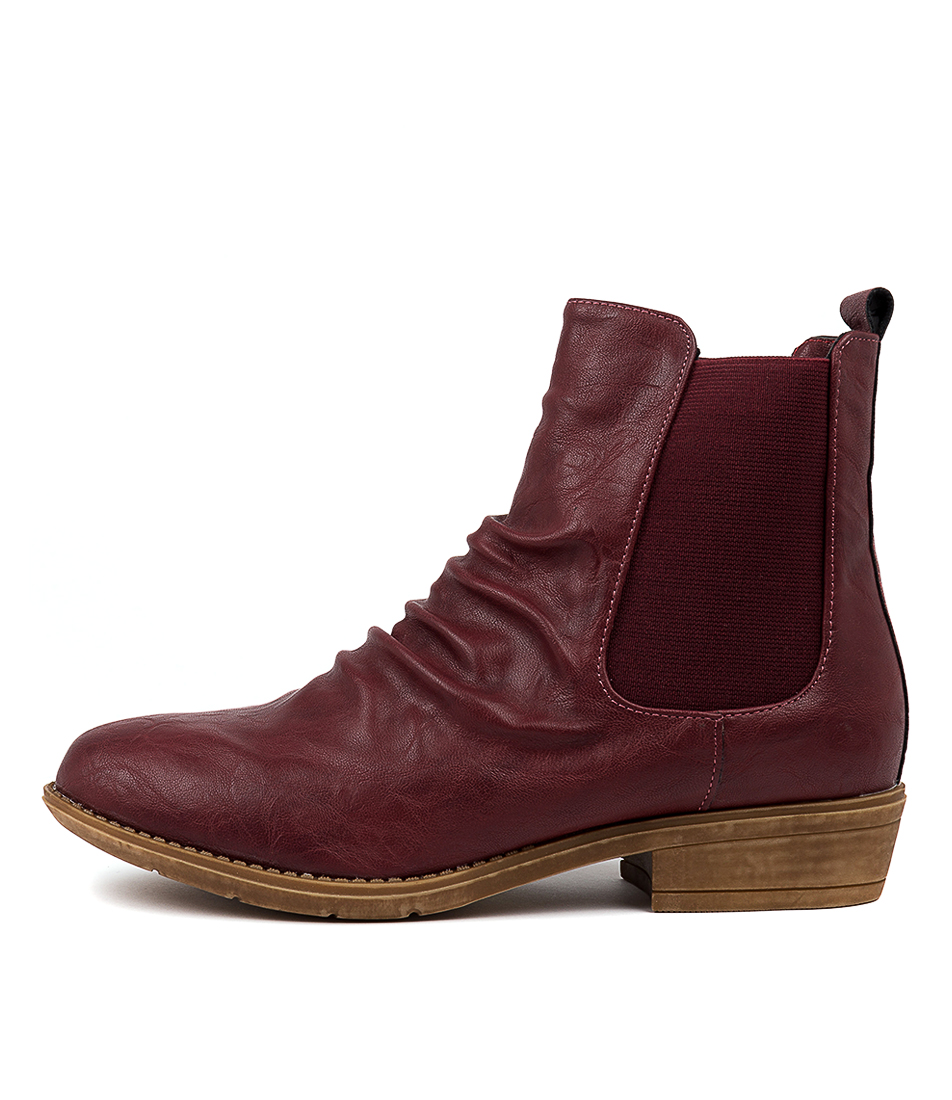 Buy I Love Billy Rufuser Dk Red Ankle Boots online with free shipping