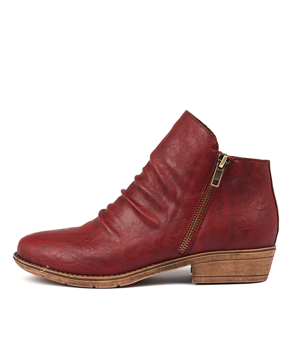 Buy I Love Billy Rosia Dk Red Ankle Boots online with free shipping