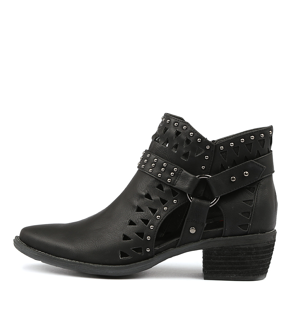 I Love Billy Shari Black Ankle Boots