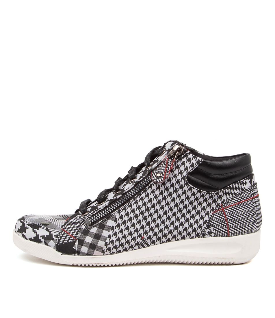 Buy I Love Billy Stellars Black & White Check Black Sneakers online with free shipping