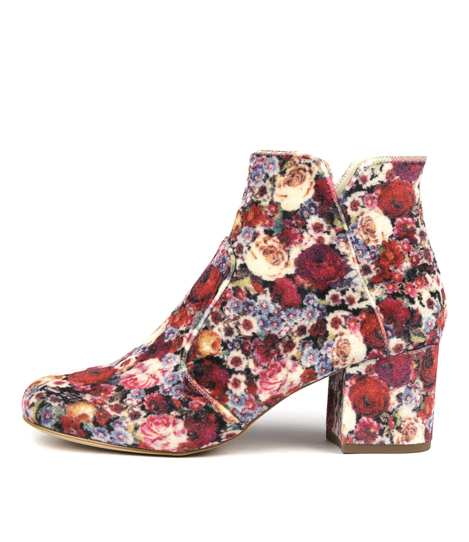 I Love Billy Viney White Print Ankle Boots