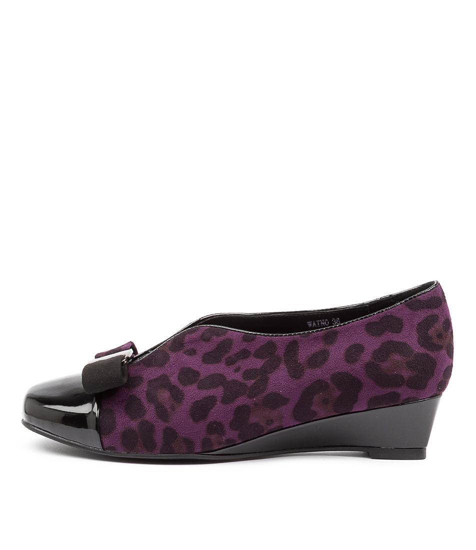 Buy I Love Billy Waino Black Purple Leopard Flats online with free shipping