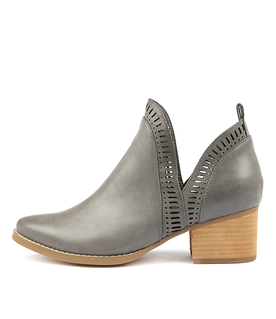 I Love Billy Lissamo Grey Ankle Boots