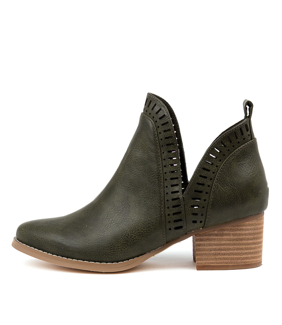 Buy I Love Billy Lissamo Olive Ankle Boots online with free shipping