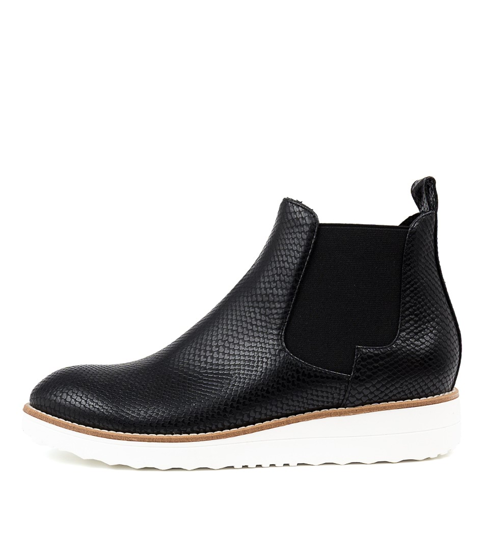 Buy I Love Billy Orval Black Snake Ankle Boots online with free shipping