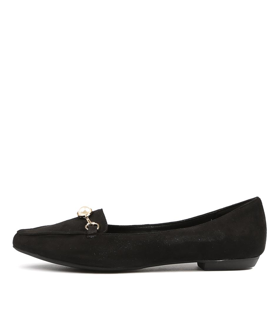 buy I Love Billy Briar Black Flat Shoes shop I Love Billy Flats online