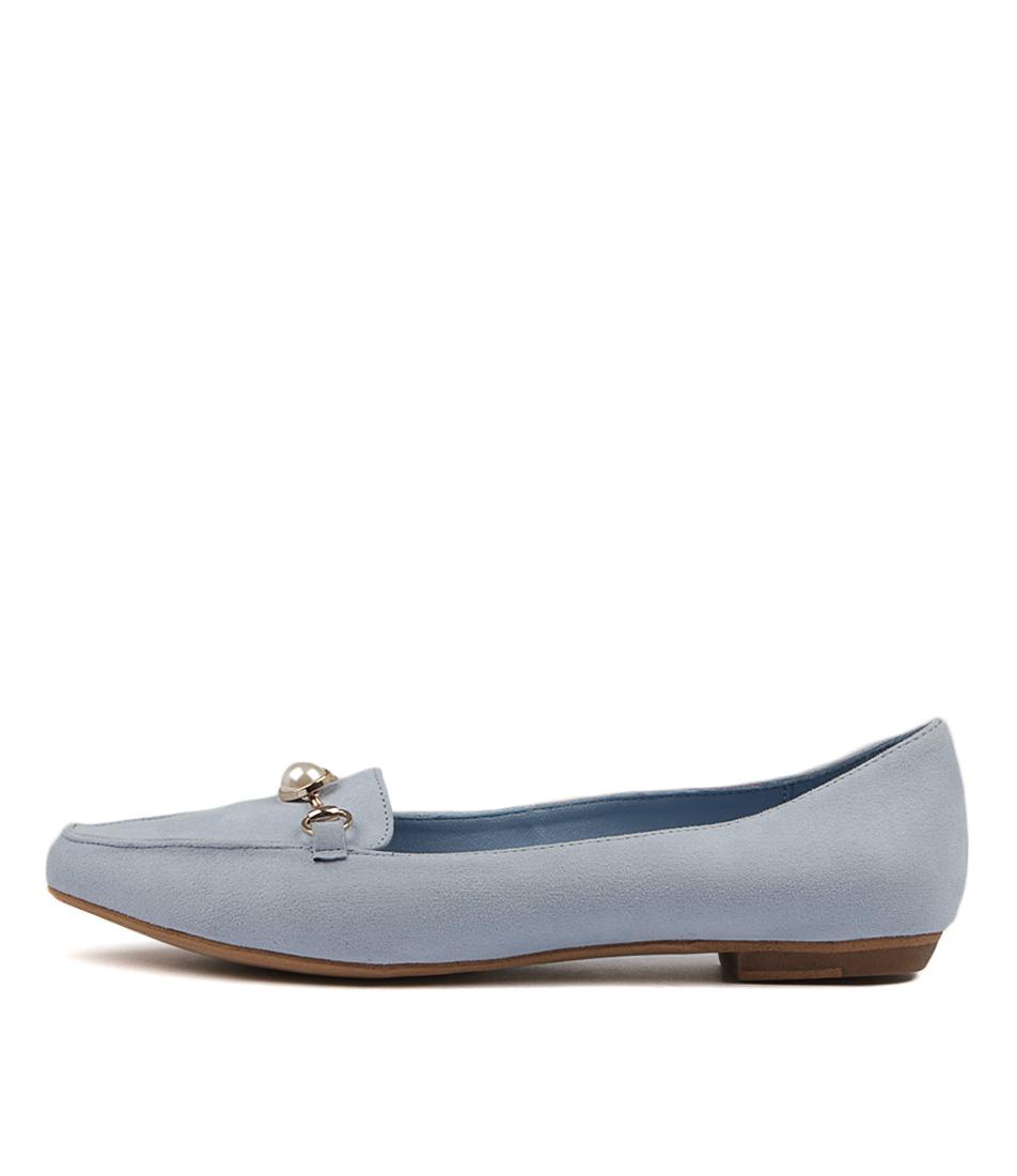 I Love Billy Briar Pale Blue Flat Shoes