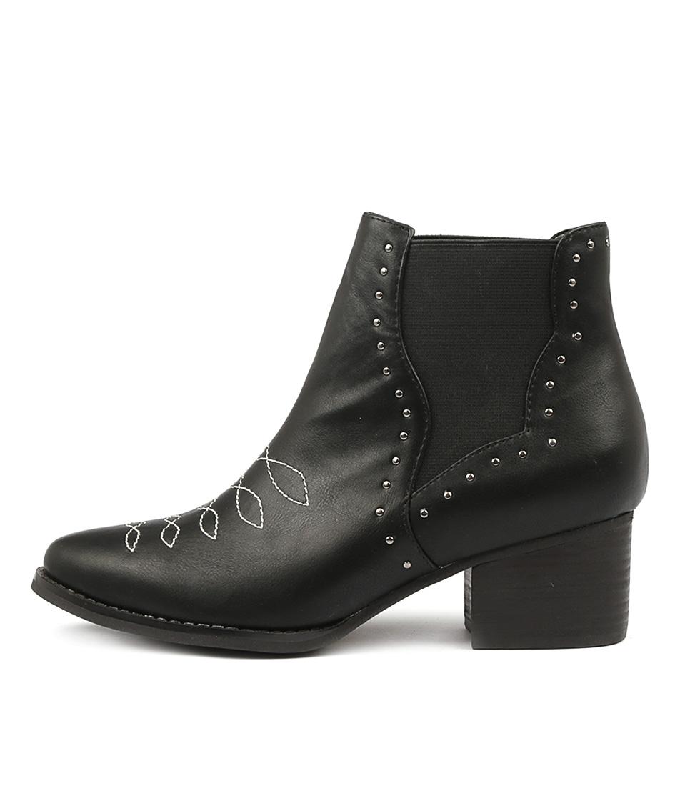 I Love Billy Lynda Black Ankle Boots