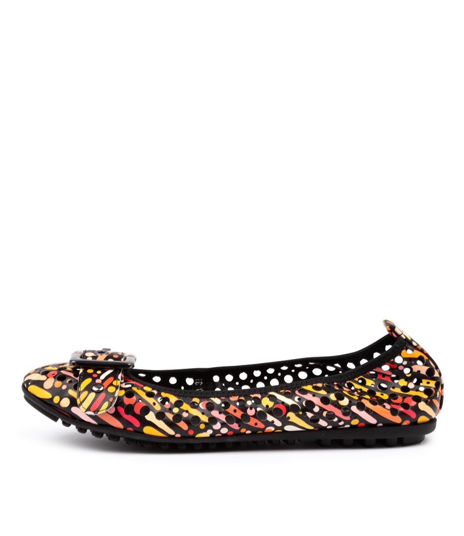 Buy I Love Billy Carra Black & Coral Carnival Flats online with free shipping