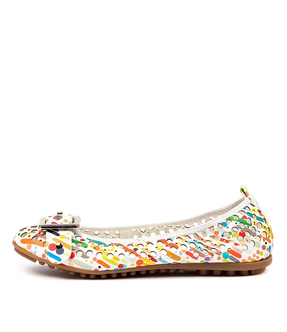 Buy I Love Billy Carra White & Multi Carnival Flats online with free shipping