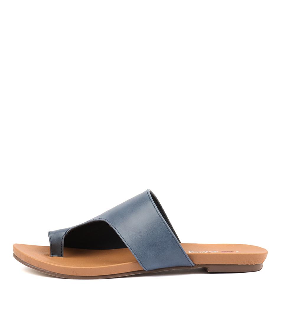 Buy I Love Billy Jonnie Denim Flat Sandals online with free shipping