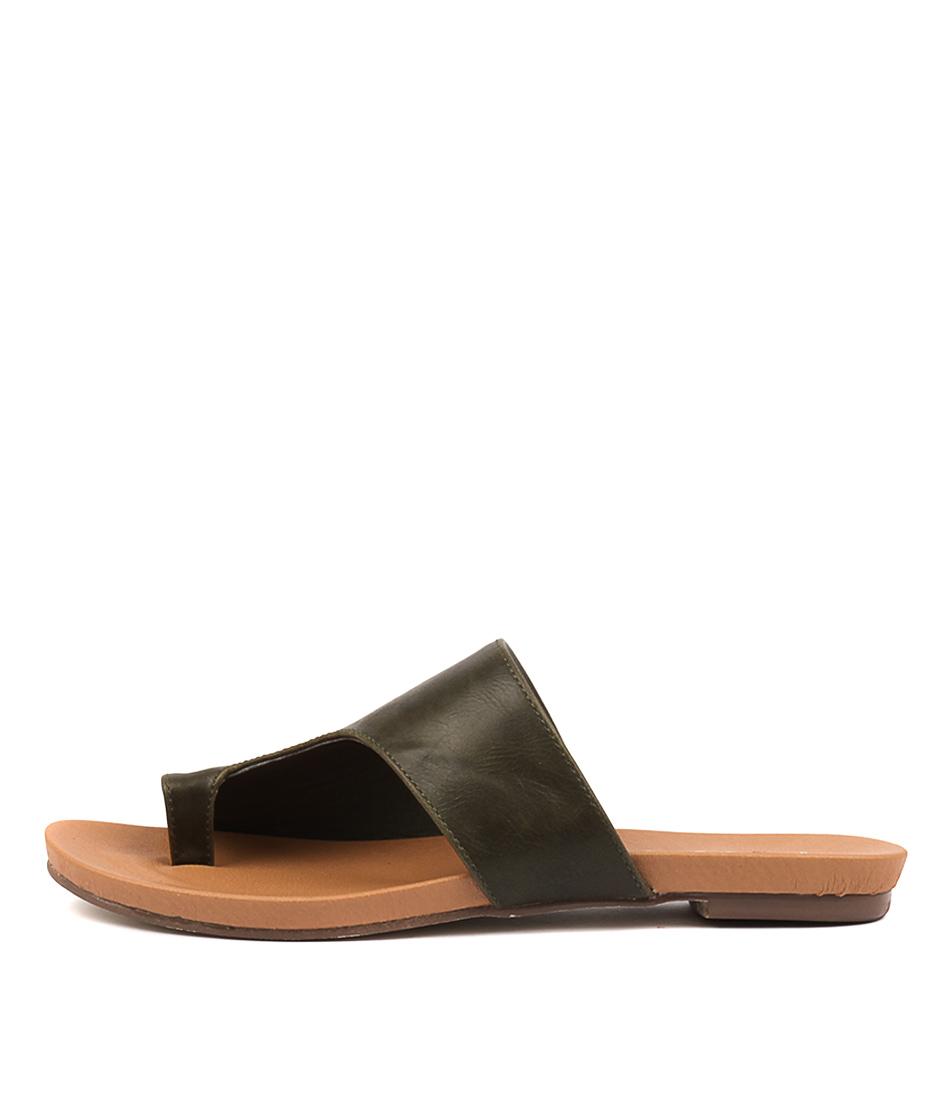 Buy I Love Billy Jonnie Khaki Flat Sandals online with free shipping