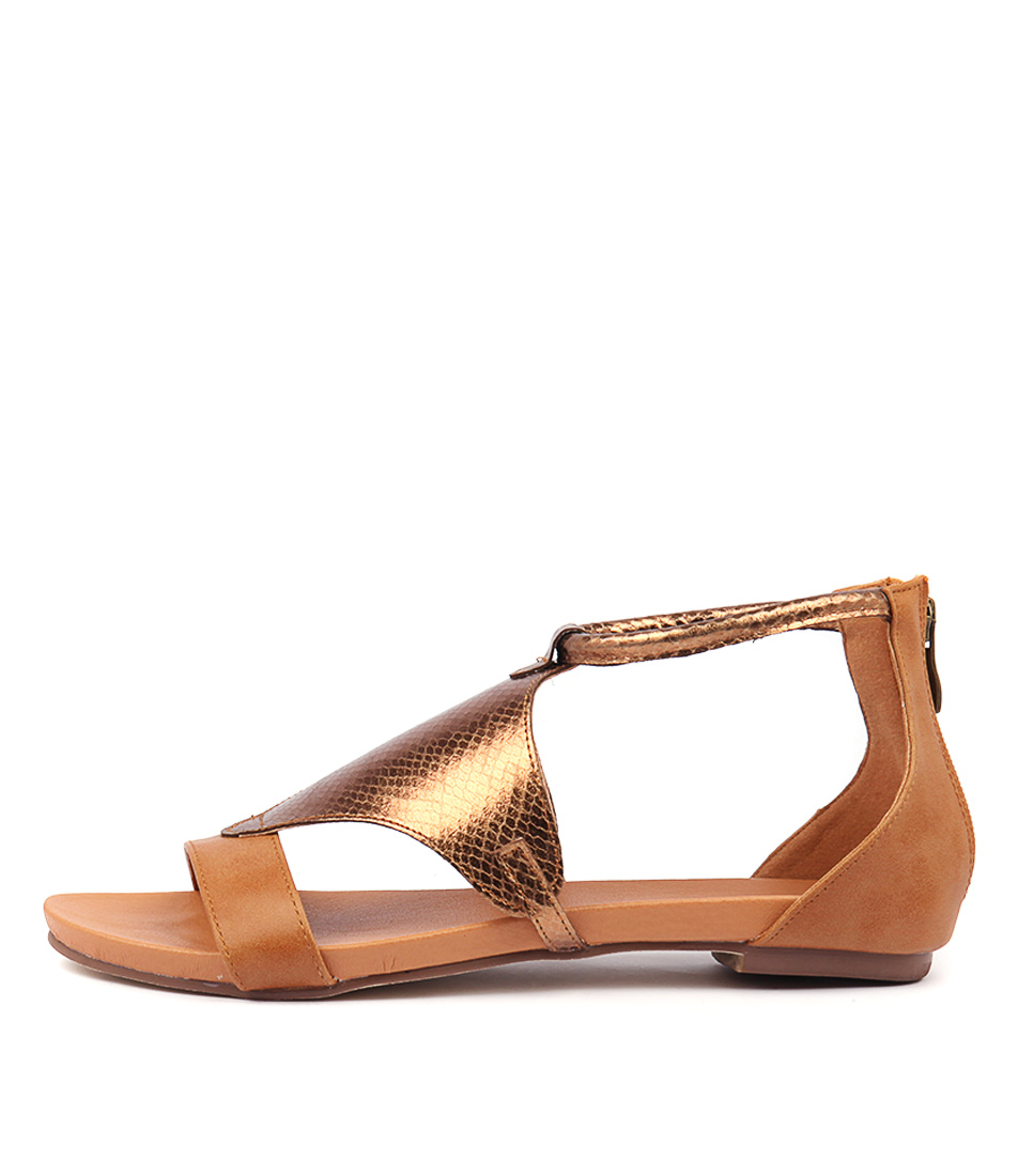 Buy I Love Billy Josh Tan Bronze Flat Sandals online with free shipping