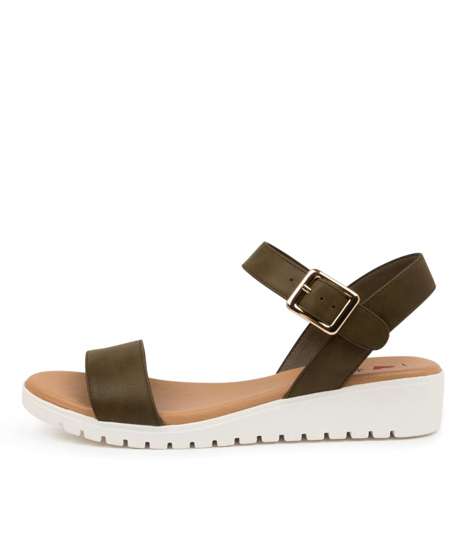 Buy I Love Billy Mickys Khaki Flat Sandals online with free shipping