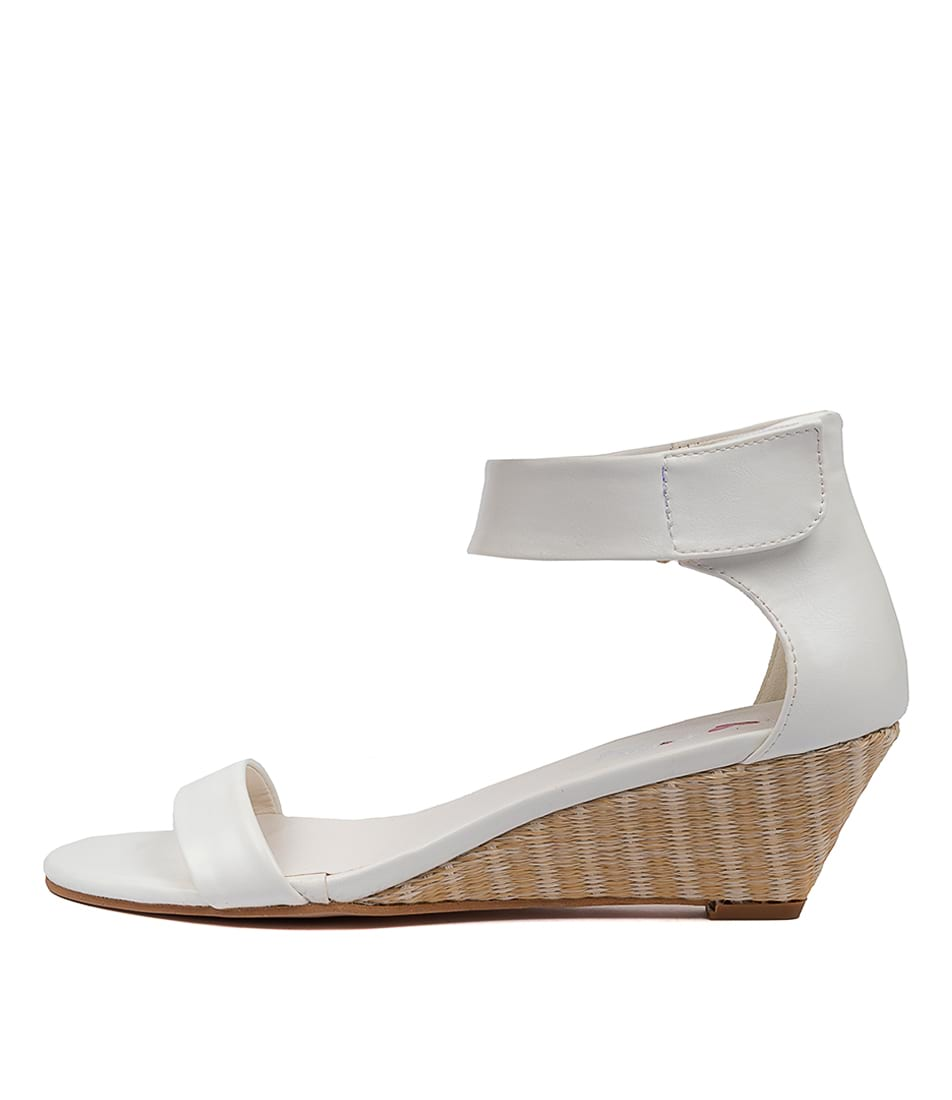 Buy I Love Billy Miesha White Natural Heeled Sandals online with free shipping