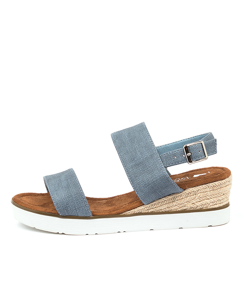Buy I Love Billy Olant Denim Stamp Heeled Sandals online with free shipping