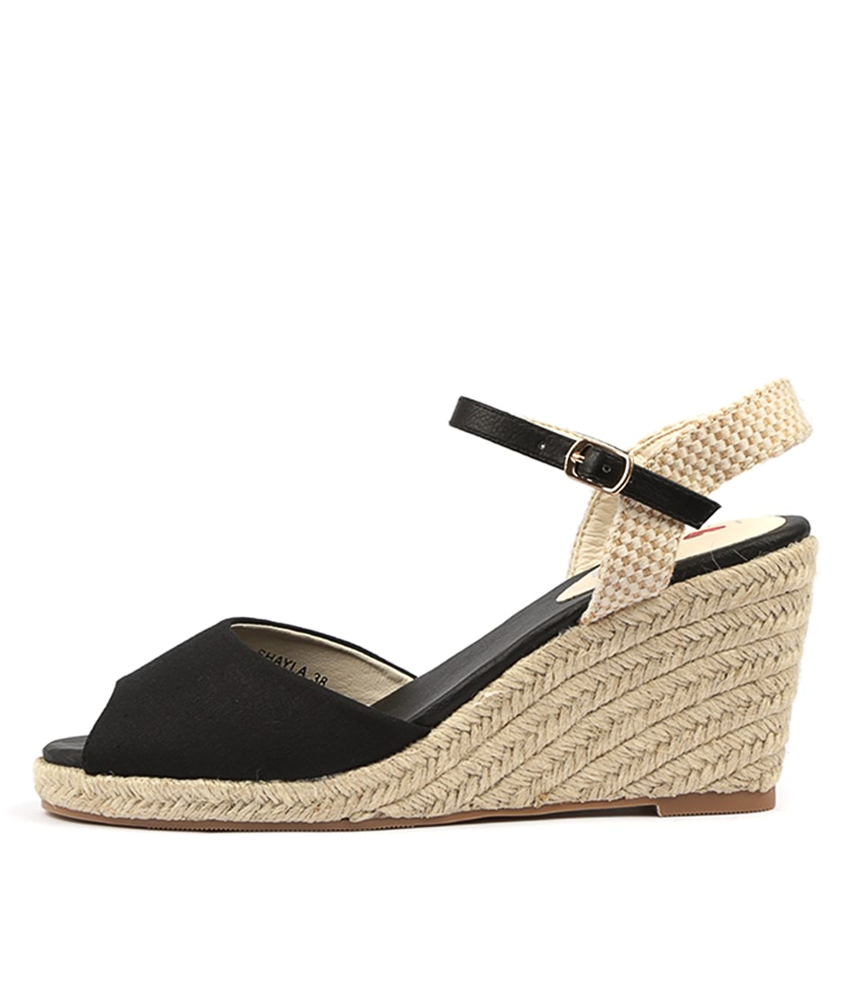 Buy I Love Billy Shayla Black Heeled Sandals online with free shipping