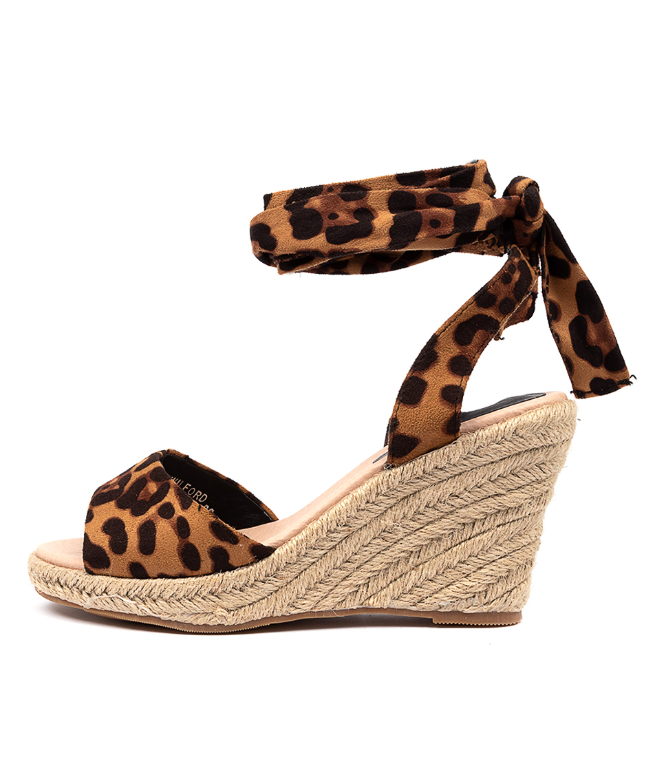 Buy I Love Billy Wilford Ocelot Heeled Sandals online with free shipping