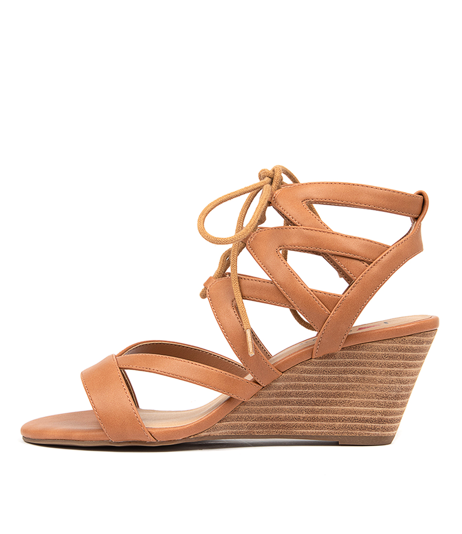 Buy I Love Billy Gillrose Tan Heeled Sandals online with free shipping