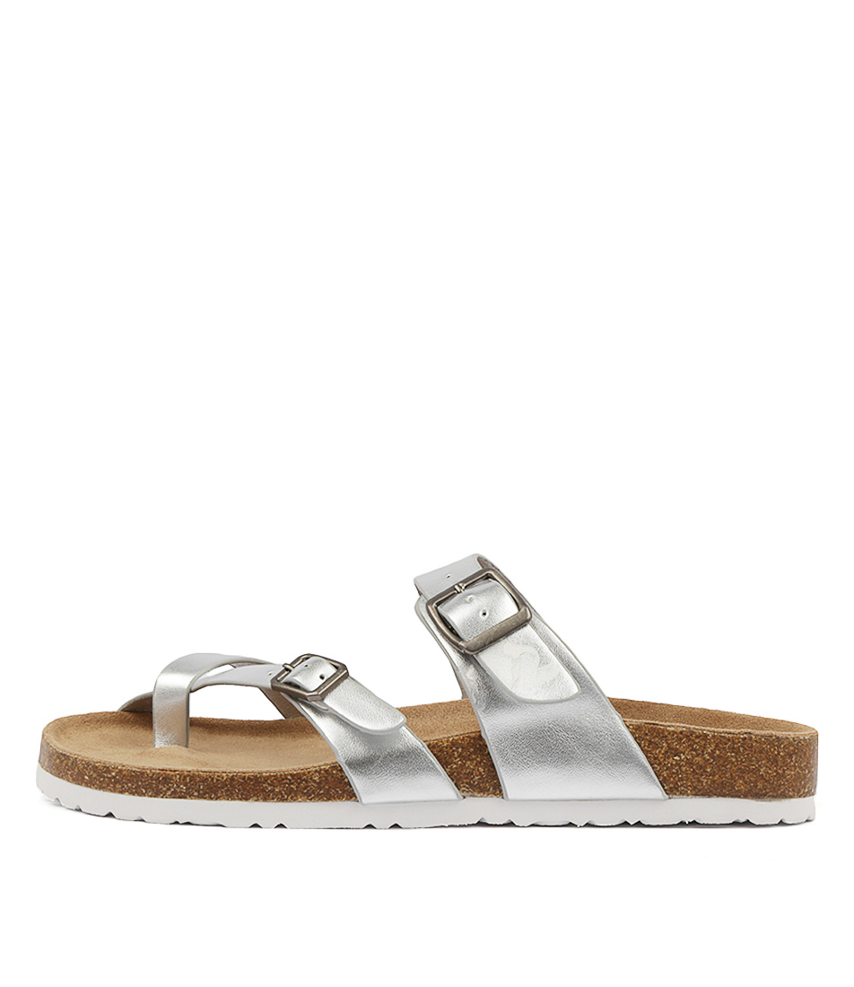 I Love Billy Rica Silver Sandals