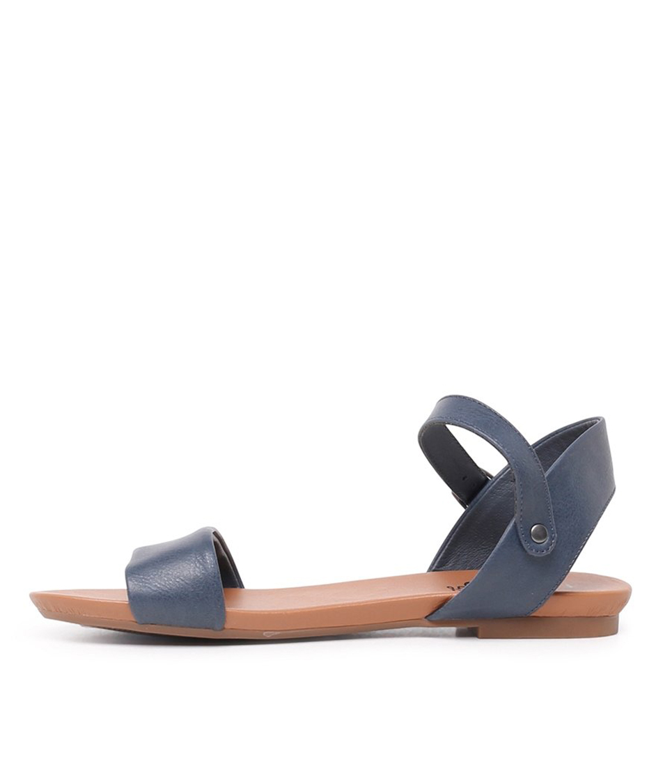 Buy I Love Billy Saratoga Navy Flat Sandals online with free shipping
